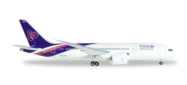 #Boeing 787-8 Dreamliner THAI Airways. #avión de pasajeros de tamaño medio y fuselaje ancho desarrollado por el fabricante estadounidense Boeing Commercial Airplanes.