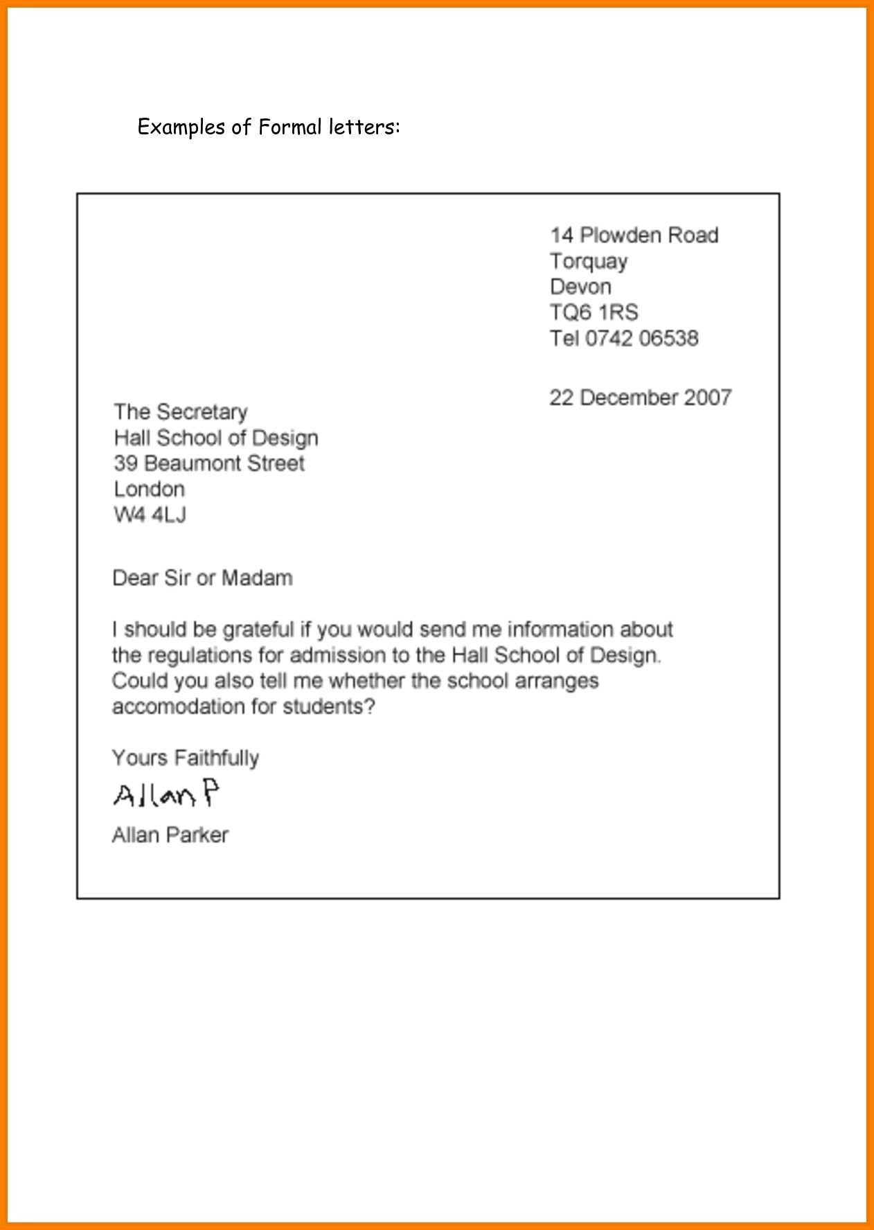 Business Letter Format Excel Businessletterformatexcel Business