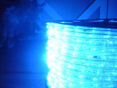 150ft ocean blue 3 wire chasing led rope light kit christmas 150ft ocean blue 3 wire chasing led rope light kit christmas lighting outdoor rope aloadofball Images