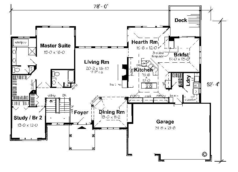 Ranch homes with walkout basements floor plans for homes Walkout home plans