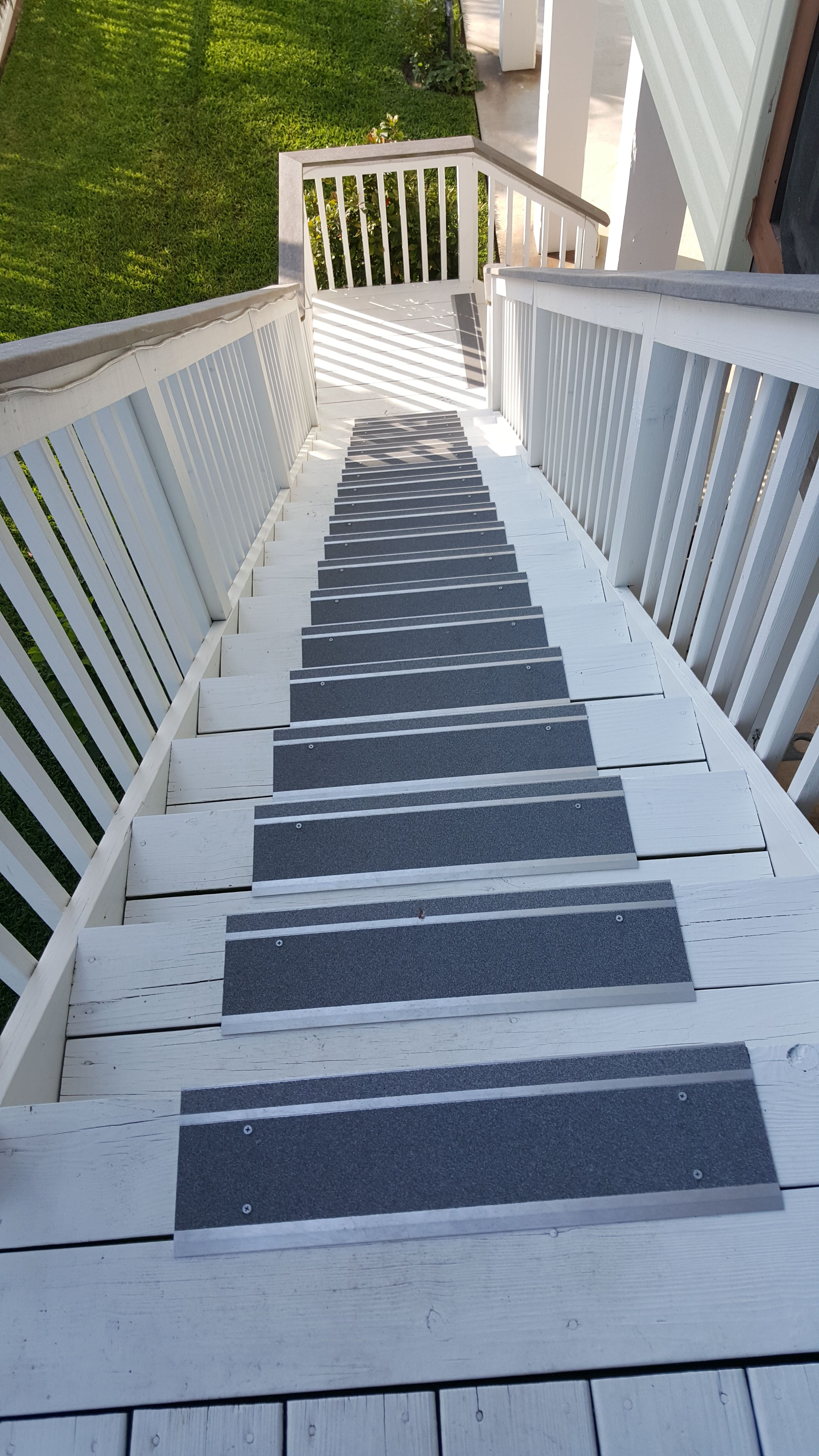 Best Metal Indoor Outdoor Stair Treads Make A Wooden Deck Safer 640 x 480