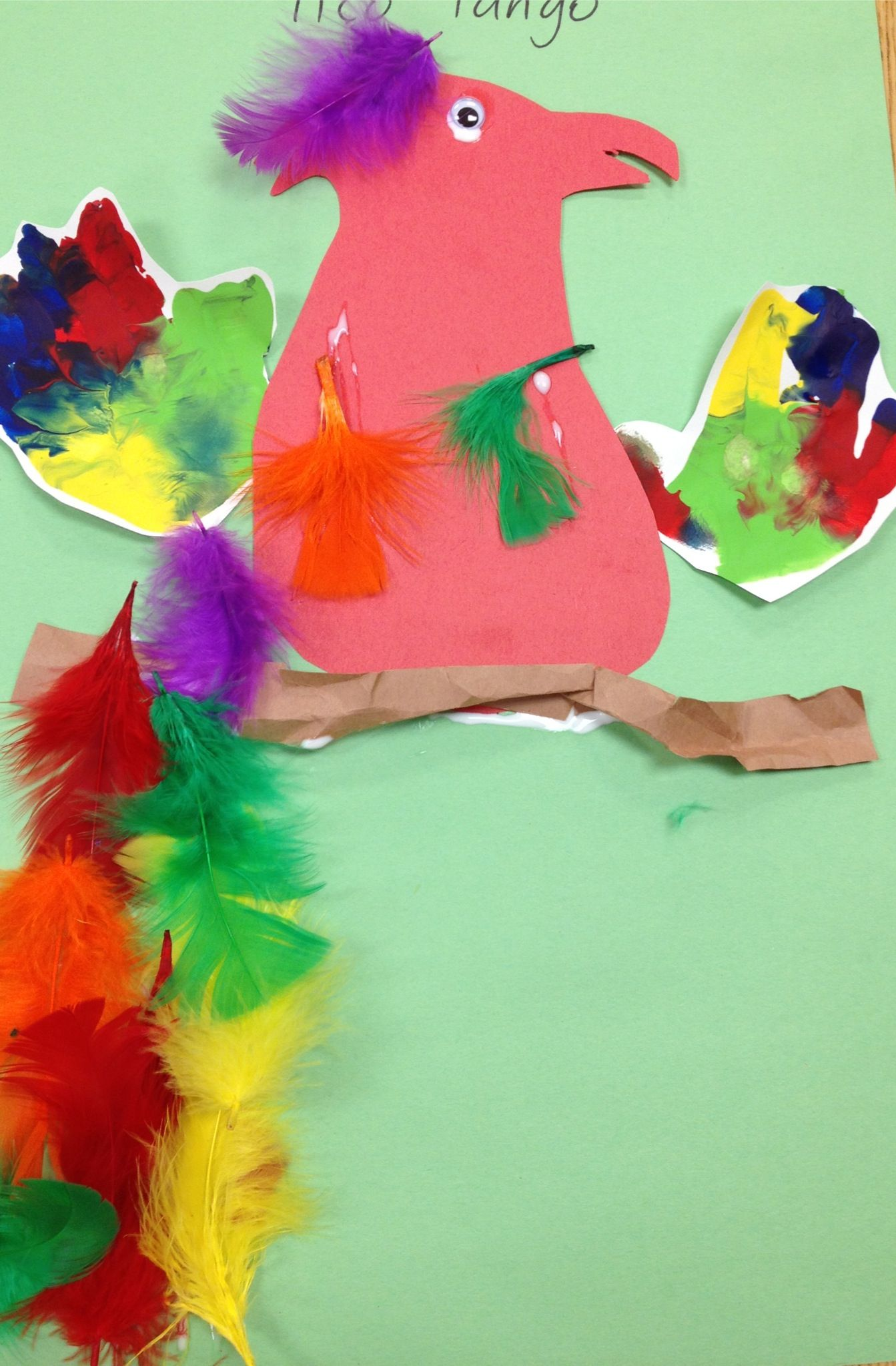 A Parrot Craft For Preschoolers To Go Along With A Unit On