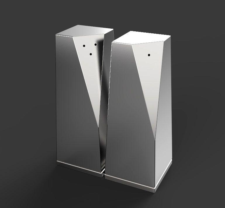 Saleiro e Pimenteiro Prisma Projeto Notus Design