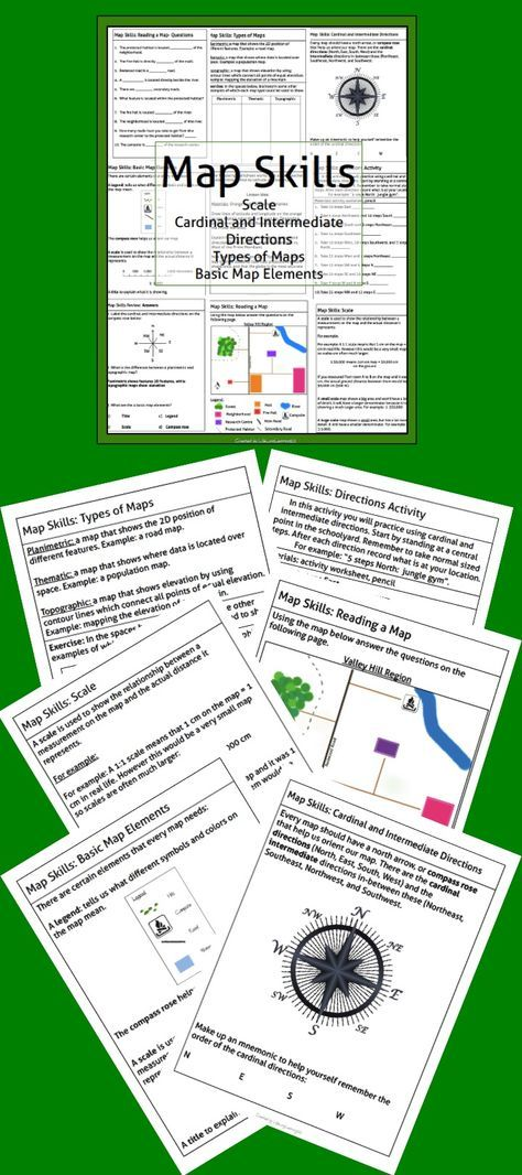 Map Skills Package Map Skills Help Teaching And Worksheets - Package of map colors