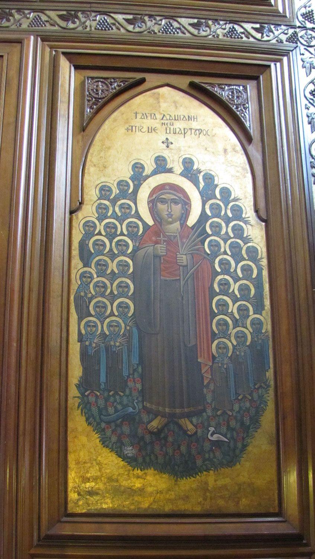 Icon by Isaac Fanous 1986, St Mary's Church, Ard El Golf, Cairo