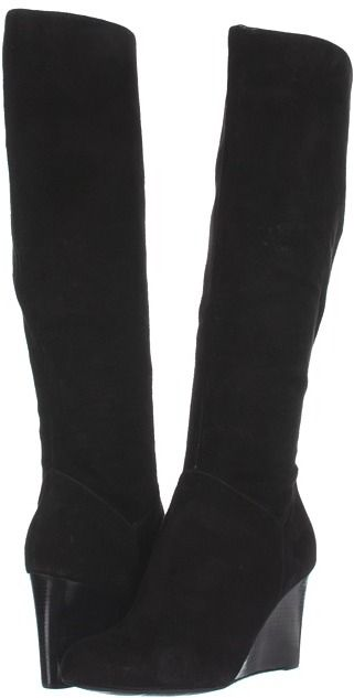 834f18cfcd9 Cole Haan Cora Wedge Boot (Black Suede) - Footwear on shopstyle.com ...