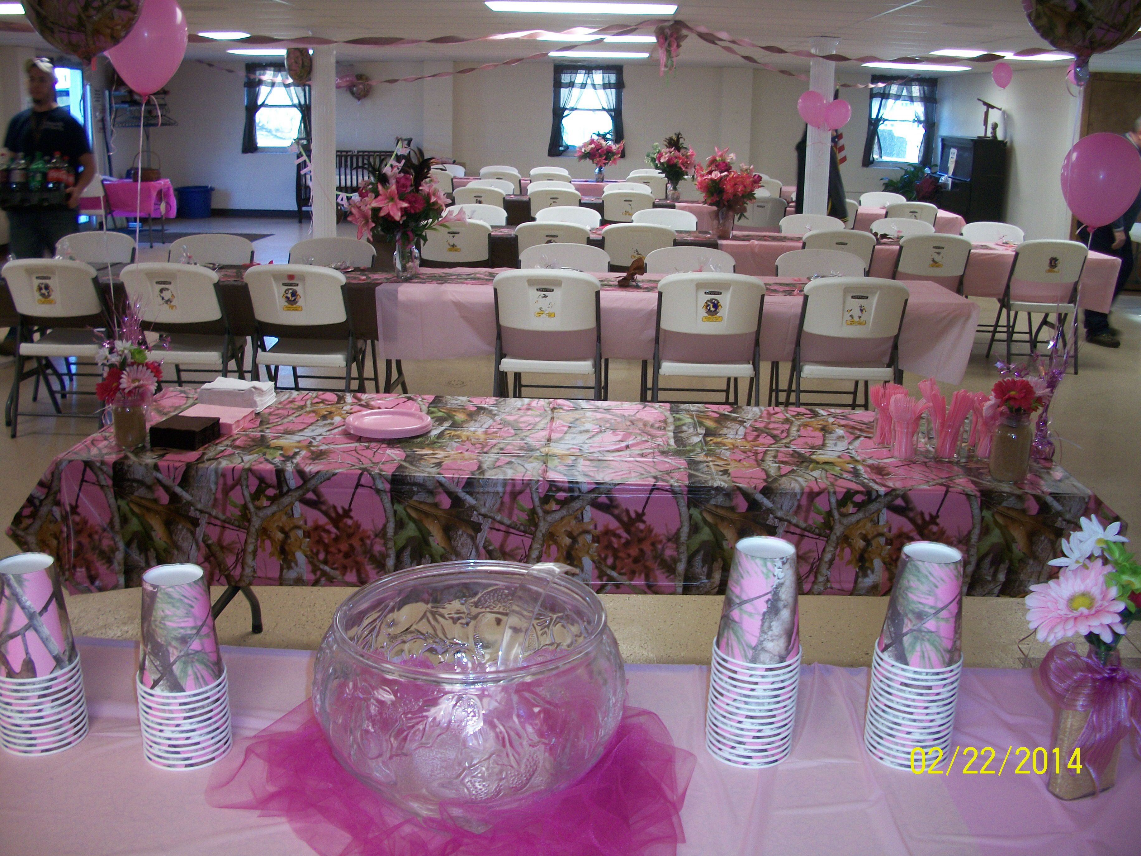Pink Camo Baby Shower, 2 22 14