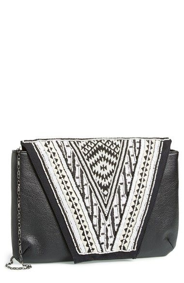 Big Buddha Beaded Oversized Envelope Clutch available at #Nordstrom 24.97