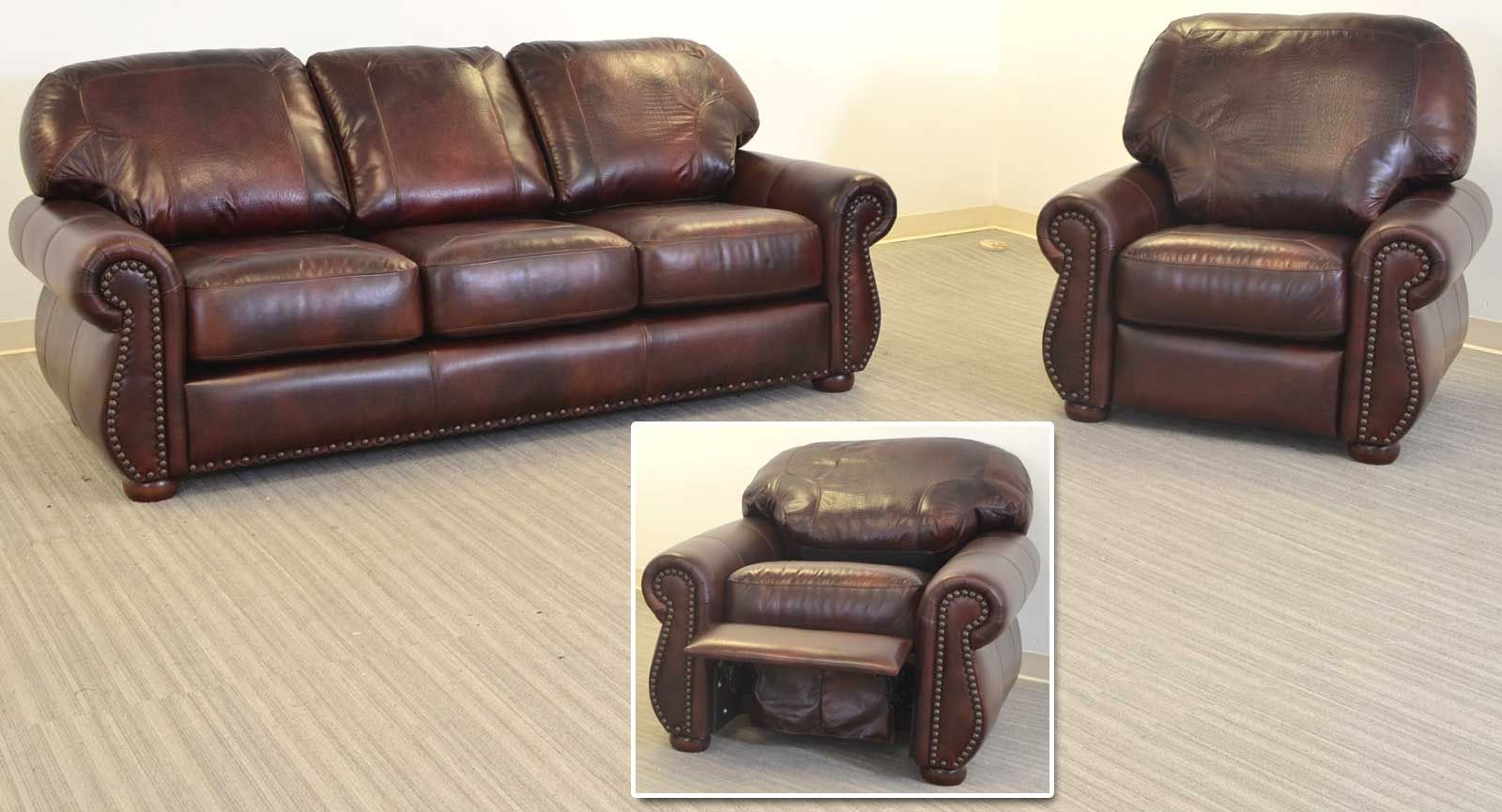 Made in the USA, the Addison Leather Sofa & Recliner | Vintage ...