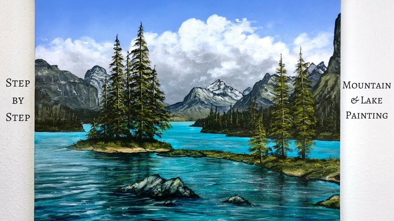 Step By Step Mountains And Lake Acrylic Painting Tutorial Colorbyfeliks Youtube Landscape Painting Tutorial Landscape Paintings Landscape Painting Lesson