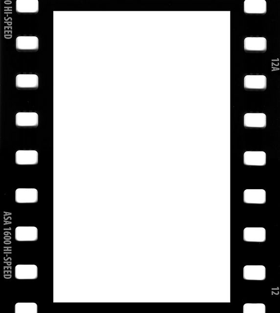 Film strip picture borders free templates downloadable for Printable film strip template