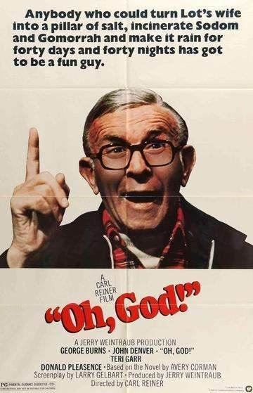 Oh, God! (1977) (With images) | Old movie posters, Hooray for hollywood, Comedy films