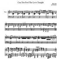 Printable Elton John Can You Feel The Love Tonight Printable