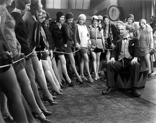 casting call for showgirls, 1920s