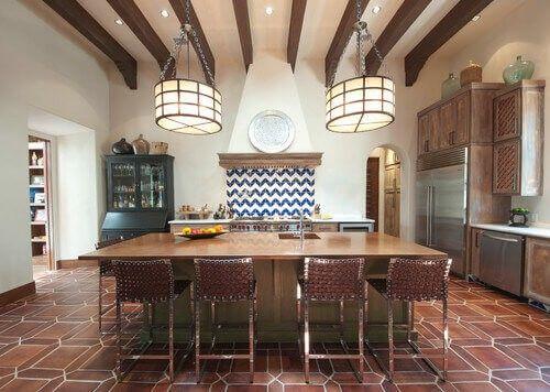 diese küche wird fabelhaftes terracotta fliesen eine warme und