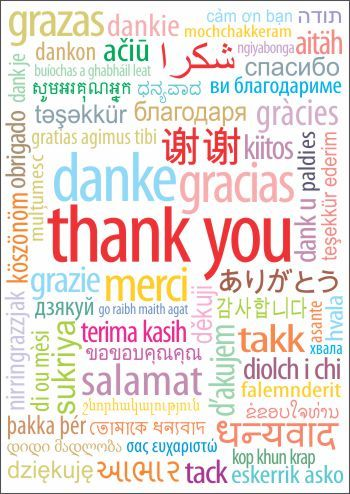 Thank you in different languages - 001 color on white base - best of sample invitation letter kosovo