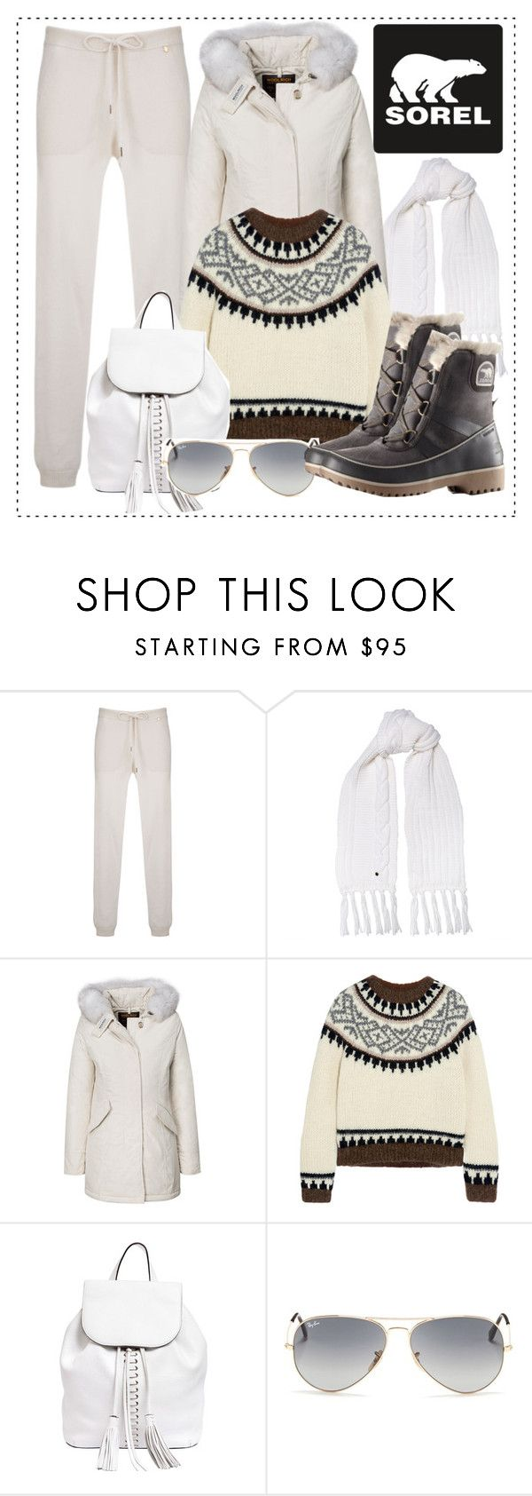 """Introducing the 2015 Winter Collection from SOREL: Contest Entry"" by alaria ❤ liked on Polyvore featuring Woolrich, SOREL, J.Crew, Rebecca Minkoff and Ray-Ban"