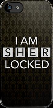 Sherlocked Wallpaper IPhone Case By Mark Walker