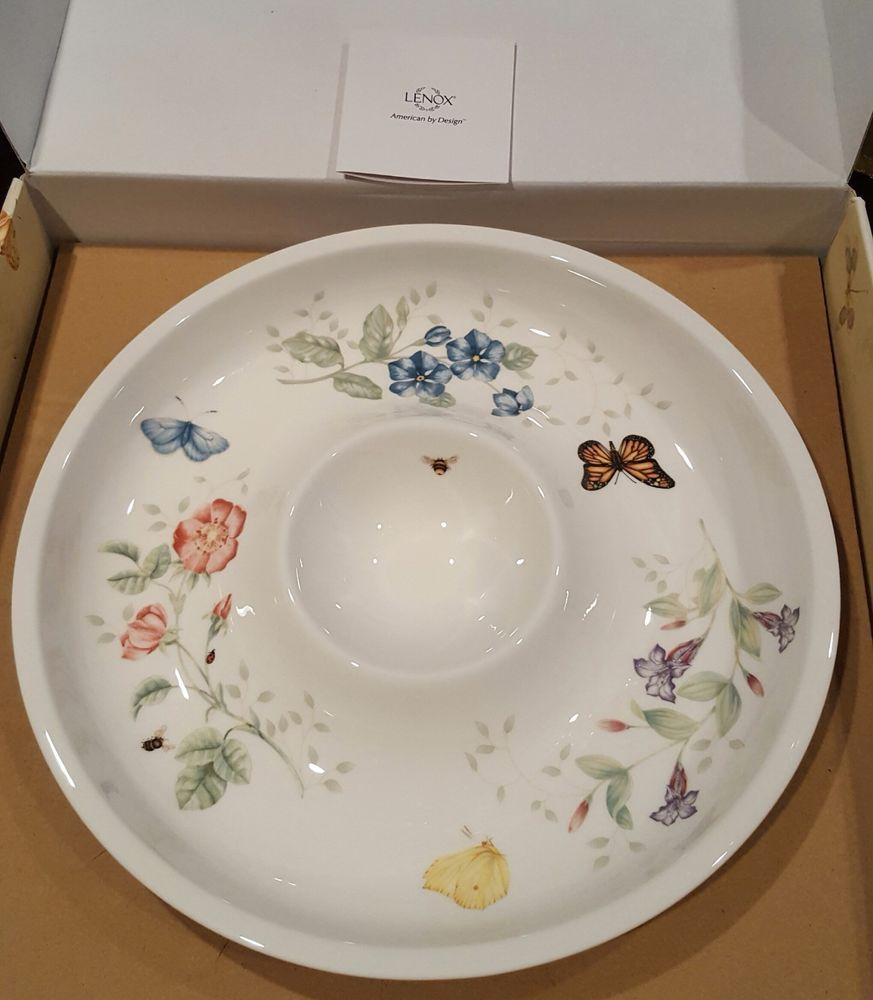 Lenox Butterfly Meadow Chip And Dip 12 Platter New Ebay Lenox