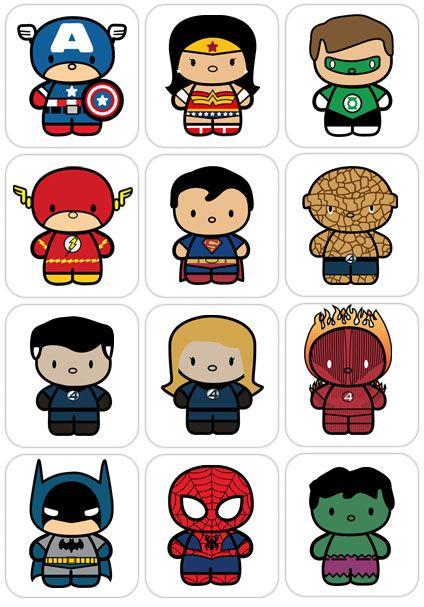 I Believe In Superman Chibis De Super Heroicitos Festa De Super Herois Bebe Super Heroi Herois