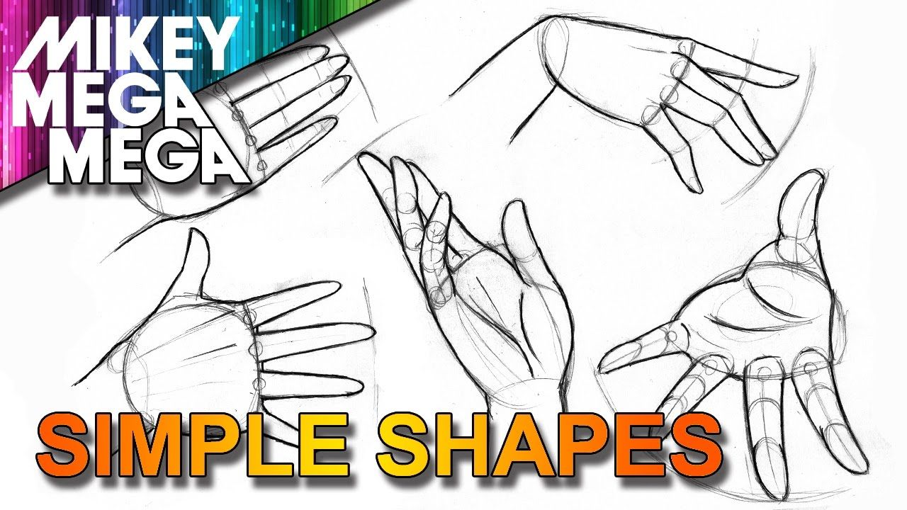 How To Draw HANDS EASY SIMPLE BASIC SHAPES IN ANIME