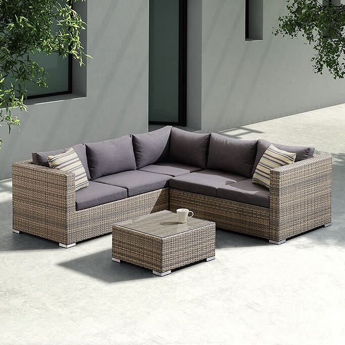 Best Brisbane 3 Piece Outdoor Sectional Set Dark Brown 400 x 300