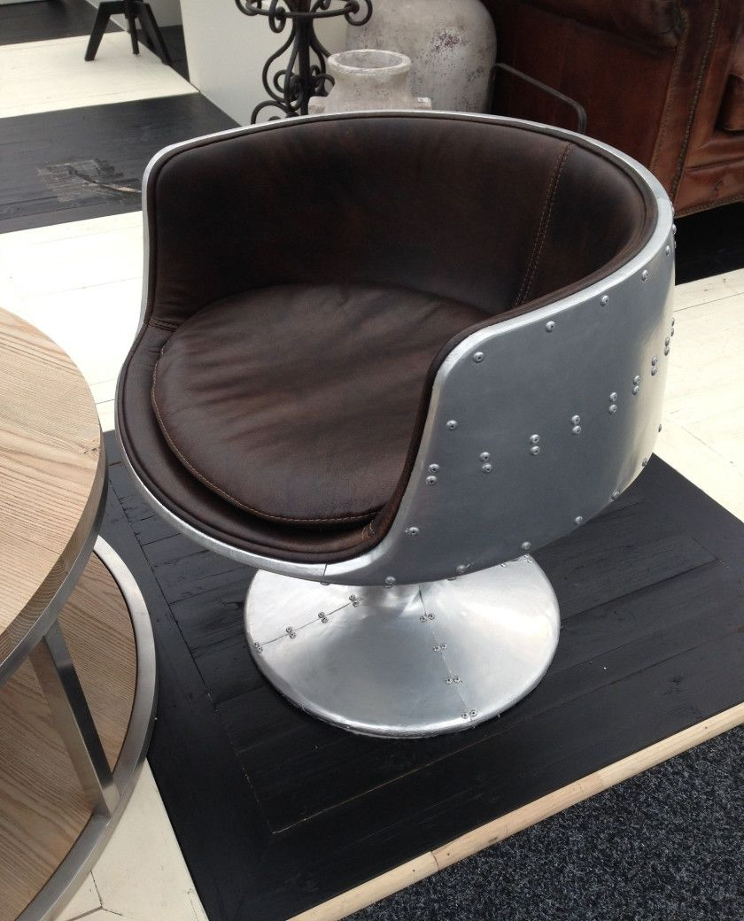 Leather Swivel Tub Chair - Red, Brown or Blue – Allissias Attic ...