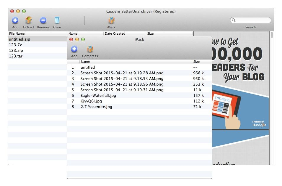 Cisdem BetterUnderarchiver makes unarchiving files on the Mac easy