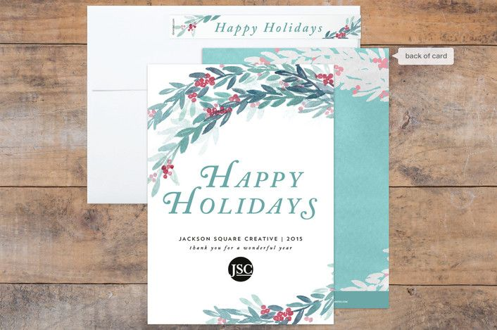 Watercolor winterberry business holiday cards mintedholiday cards watercolor winterberry business holiday cards mintedholiday cardschristmas cardsholiday reheart Choice Image