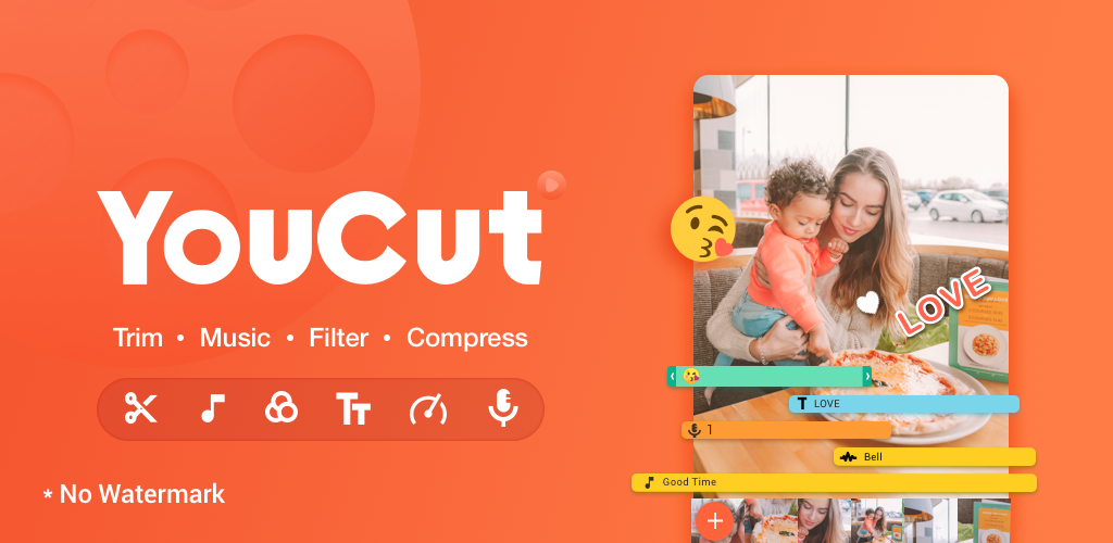 YouCut Video Editor & Video Maker, No Watermark