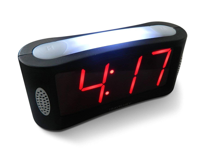 Alimentata dalla rete elettrica e dalla batteria di backup. Travelwey Sveglia Digitale A Led Semplice Da Utilizzare Sveglia Digitale Da Comodino Con Luce Notturna E Gr Alarm Clock Digital Alarm Clock Loud Alarm Clock