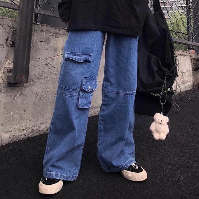 Denim Oversized Internet Girl Jeans With Pockets Aesthetic Clothes Fashion Inspo Outfits Girls Jeans Notre collection de jeans aesthetics vous propose de superbes jeans femme que vous pouvez associer avec des petits hauts. denim oversized internet girl jeans