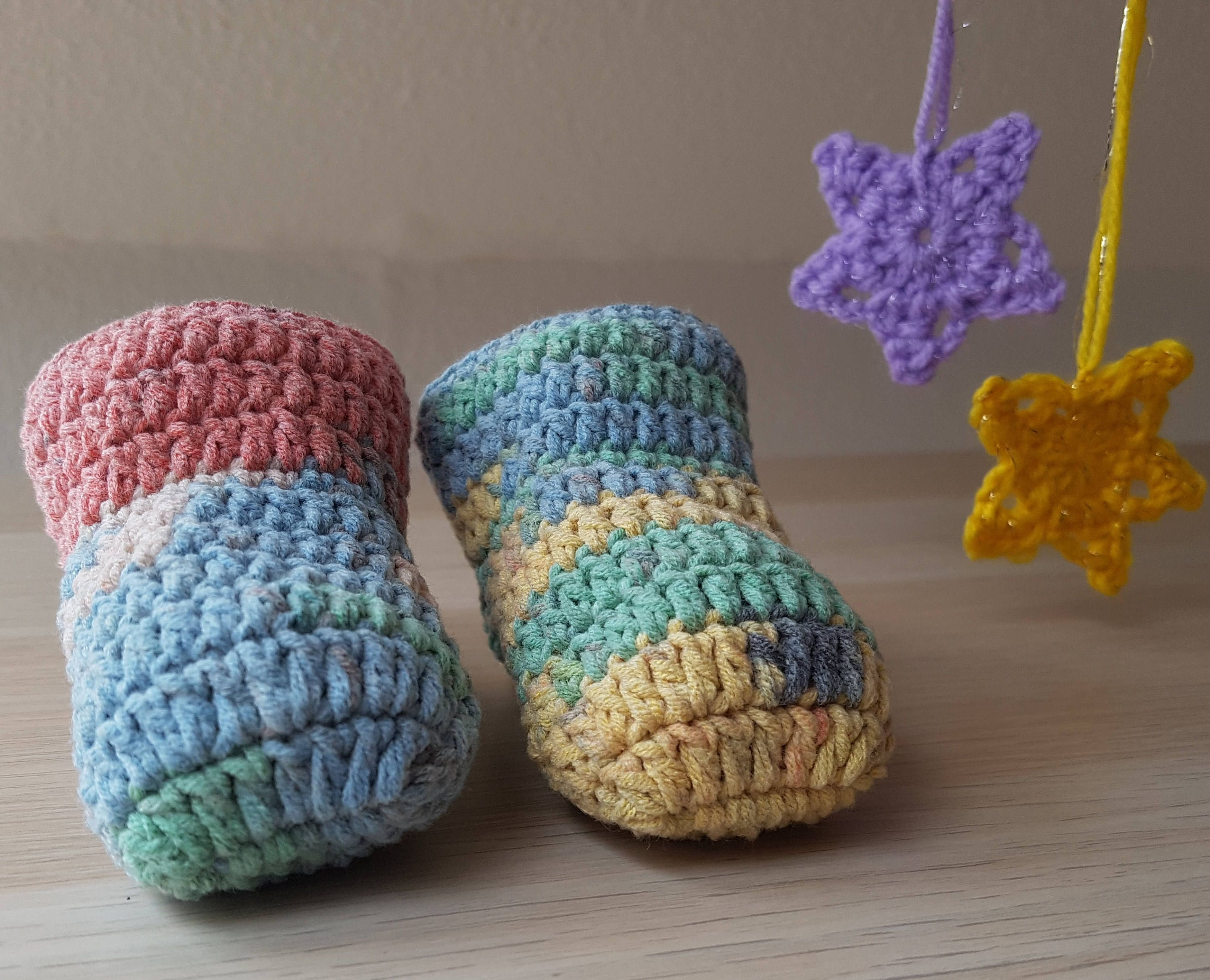 Baby socks Crochet baby socks Newborn socks Baby slippers Baby