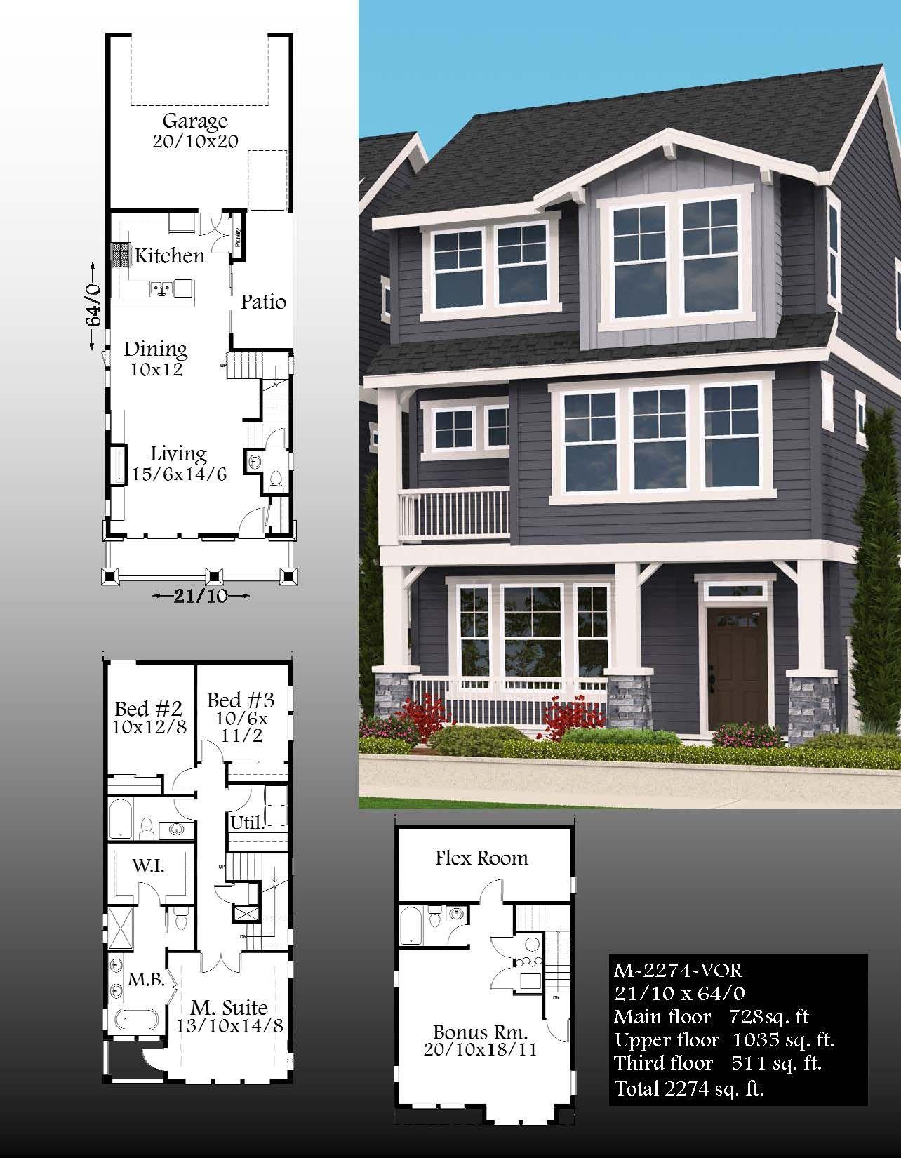 Major Lane House Plan Craftsman House Plans Craftsman House Plans Row House Design Narrow Lot House Plans
