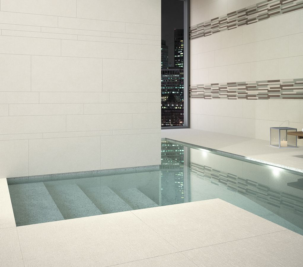 vogue cream porcelain tiles beside a hotel swimming pool