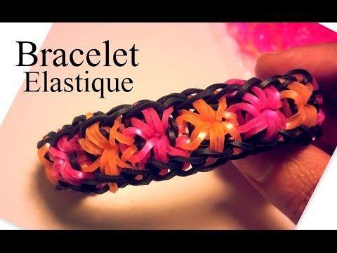 """bracelet en élastiques """"fleurs"""" - tutoriel en vidéo pour le faire"""