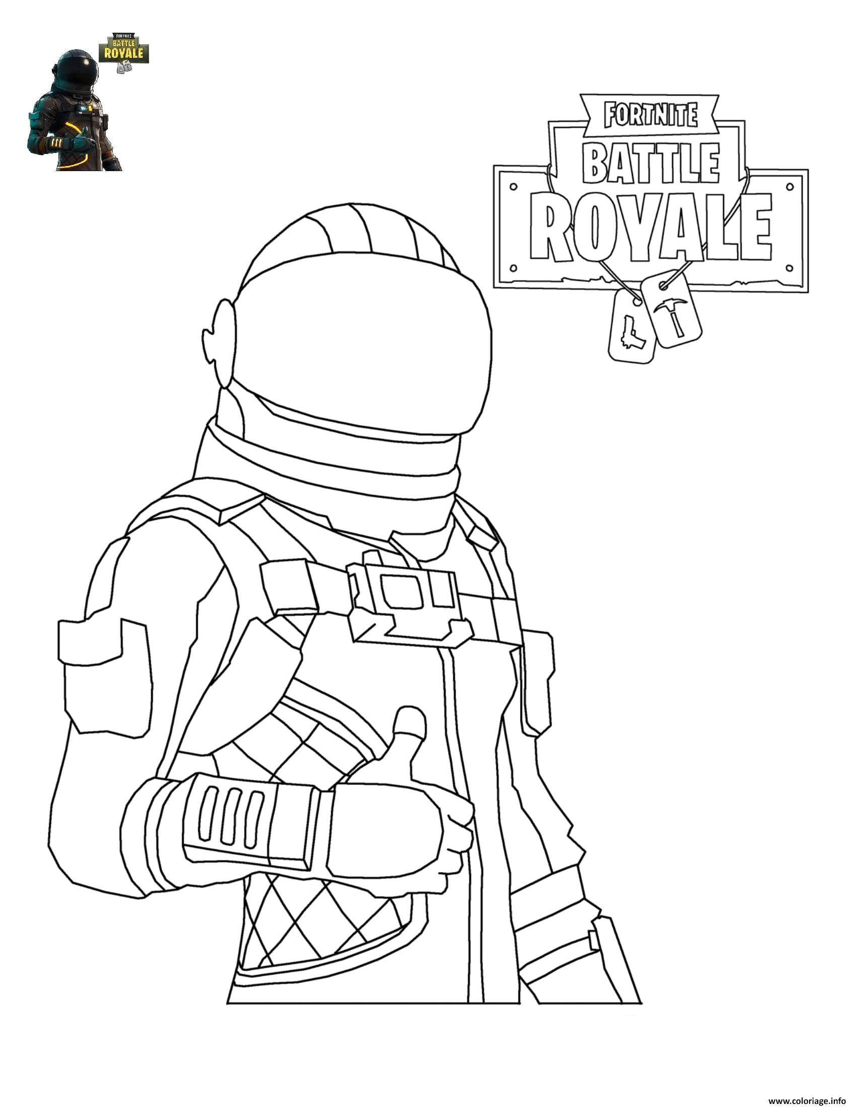 Coloriage Fortnite Battle Royale personnage 4 à imprimer | Coloriage ...