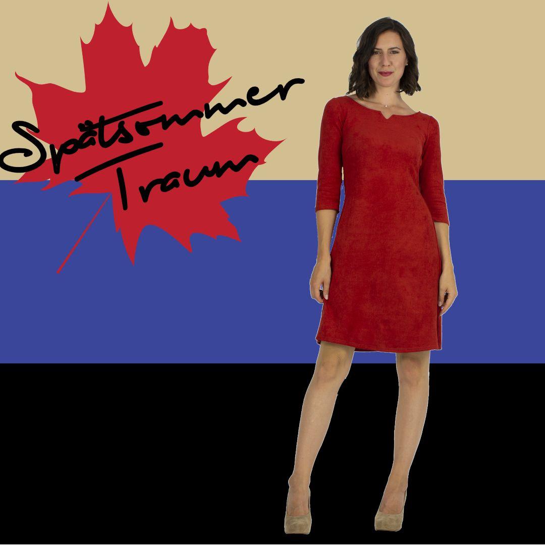 kleider in herbstfarben   kleider, rotes kleid, herbstfarben