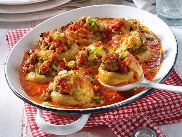 gefüllte riesenchampignons in tomaten sahne rezept