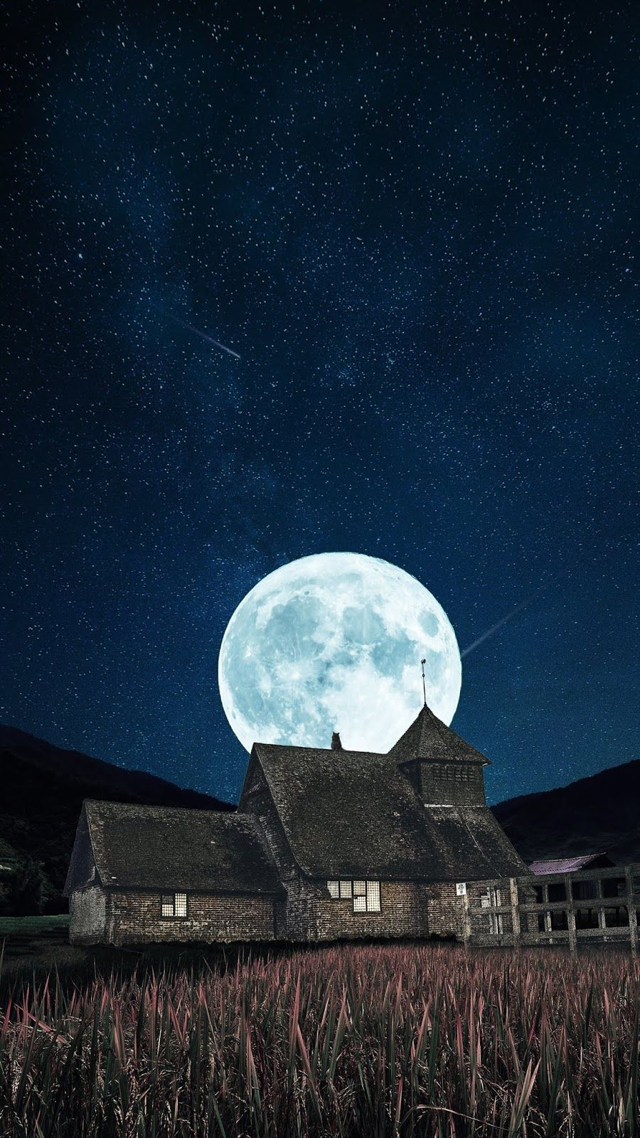 Full moon in the night wallpaper iphone android