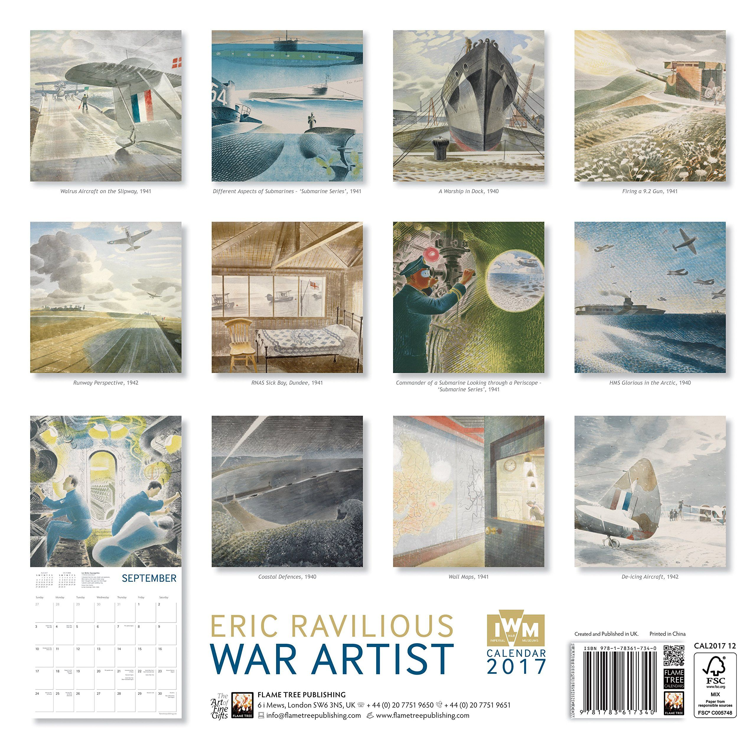 Art Calendar Book : Imperial war museums eric ravilious artist wall