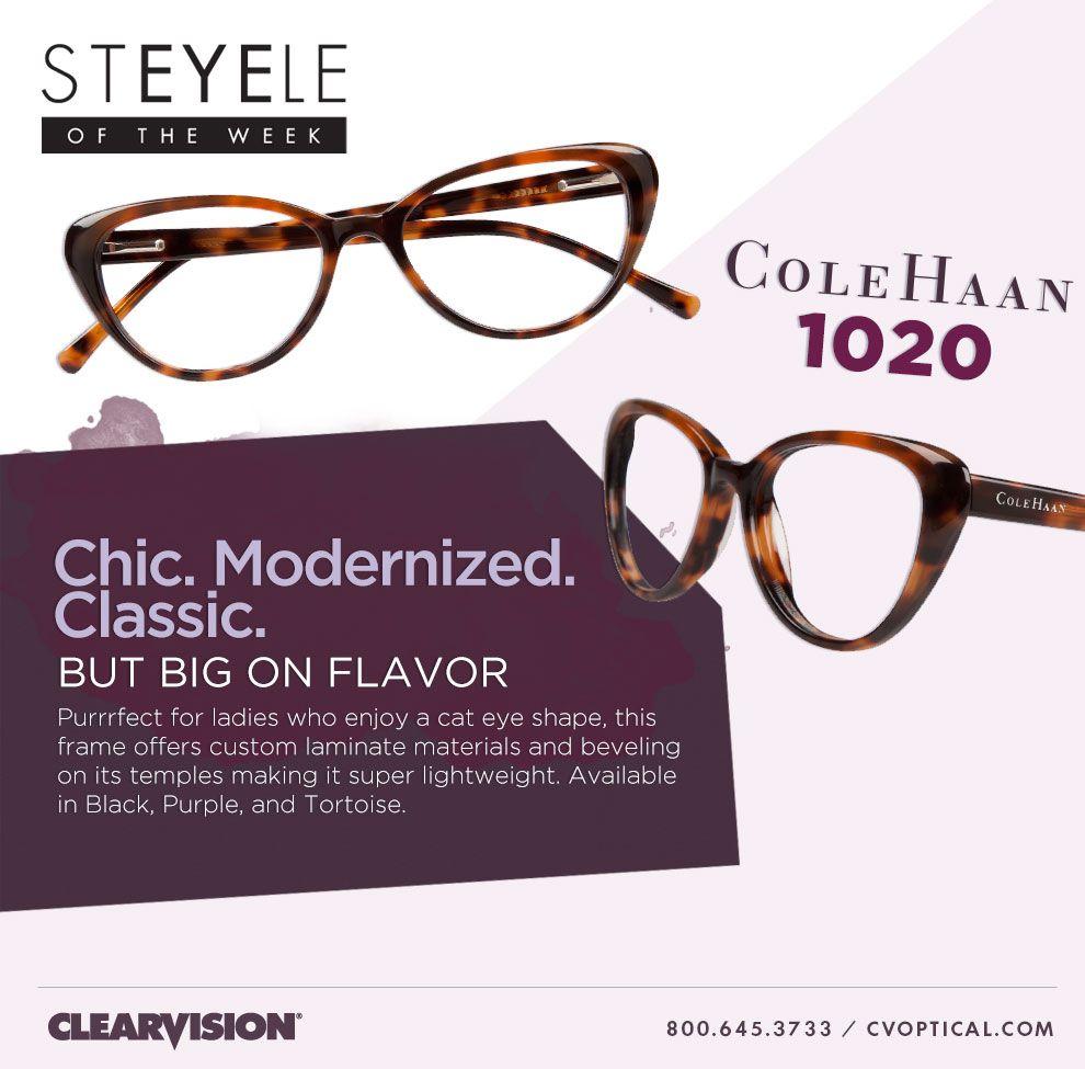 StEYEle of the Week: Chic. Modernized. Cole Haan #eyewear https ...