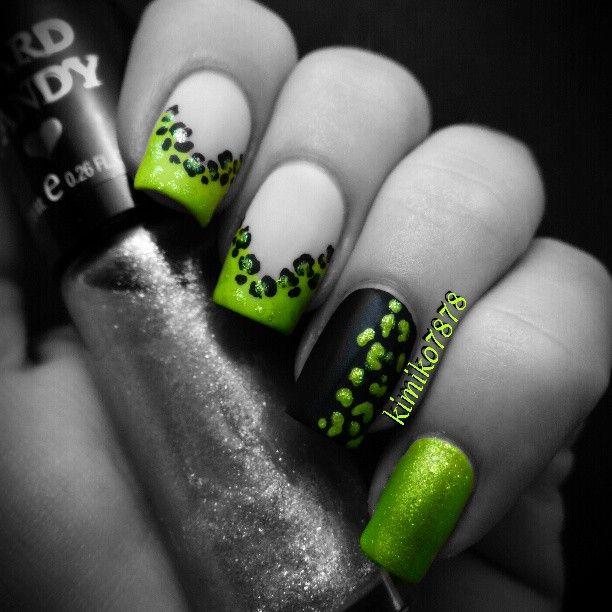 Nailart nails manicure nail nailsart dianas nail art beautiful photo nail art 31 gorgeous black and green nail art designs prinsesfo Gallery