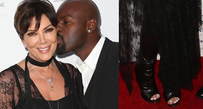 Kris Jenner Gets A Kiss From Caitlyn Jenner And Another From