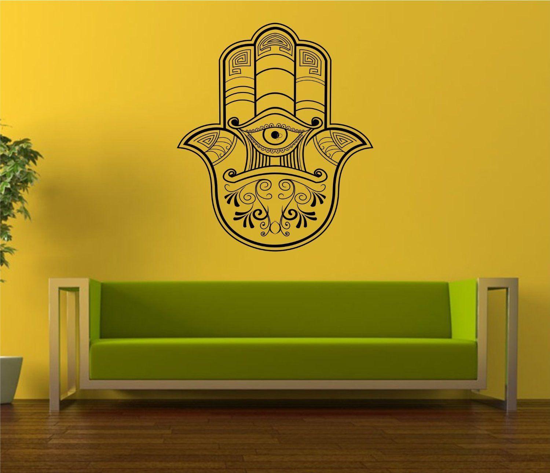 Hamsa Hand Version 110 Decal Sticker Wall Vinyl Art Blessings Power ...
