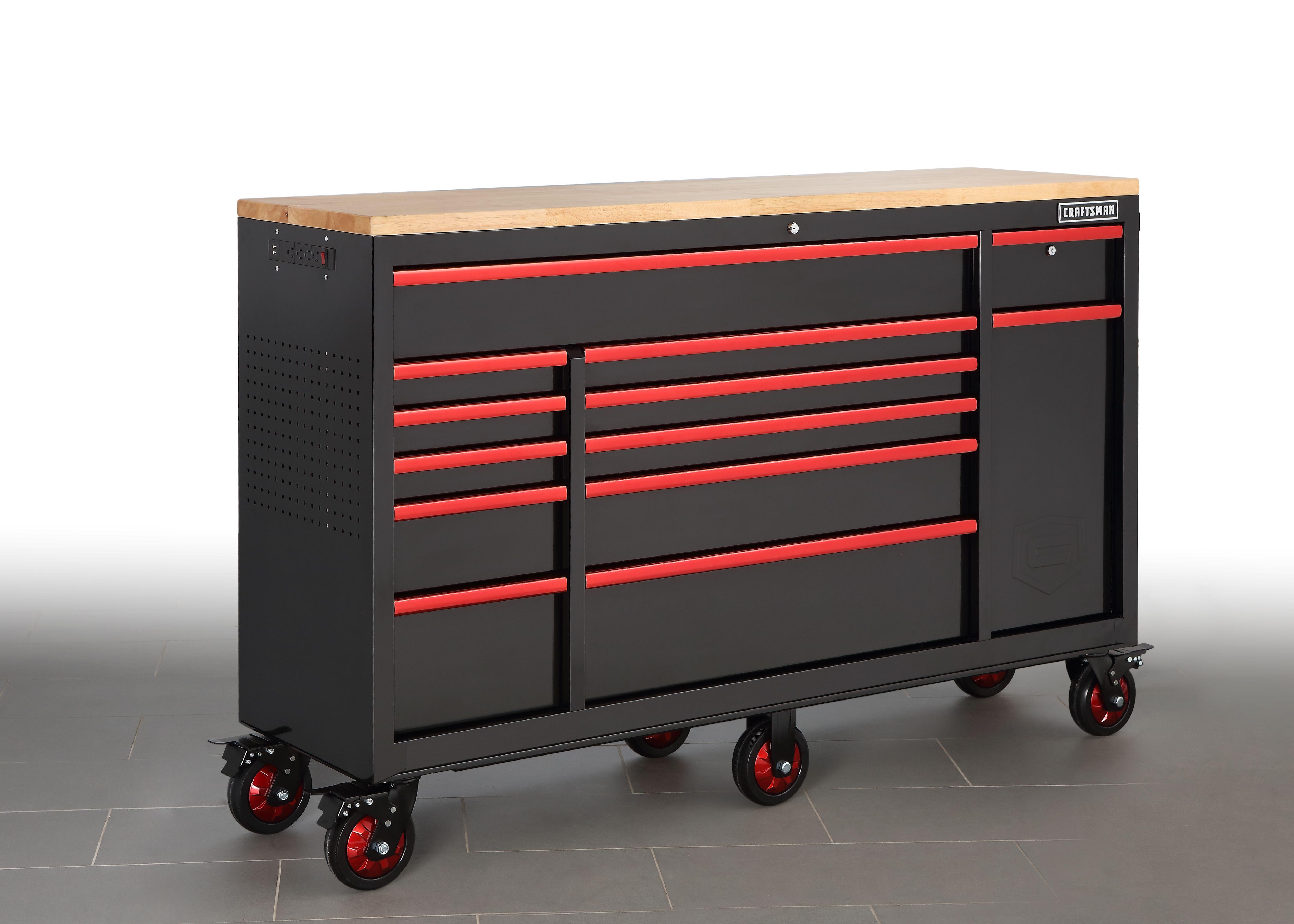 Craftsman 65 Workstation Black Garage Storage Welding Shop Tool Drawers