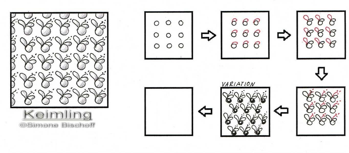 Neues Muster: Keimling | Keimling, Muster und Zentangle