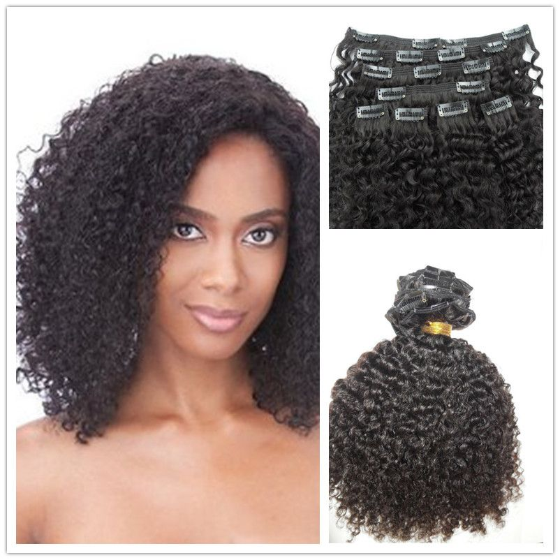 7a Clip In Hair Extensions Kinky Curly 100g 100 Remy Virgin Human