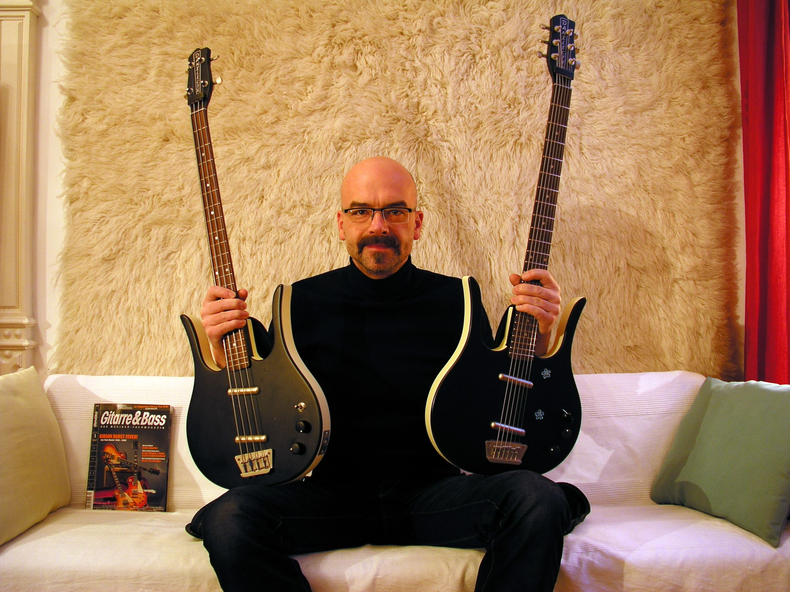 Danalectro Longhorn Bass & Baritone Guitar reissues, with