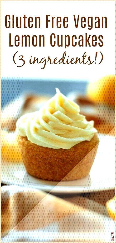 Vegan 3 Ingredient Lemon Cupcakes with Lemon Cream Cheese Frosting Gluten-free Vegan 3 Ingredient